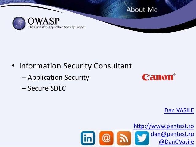 WordPress Security Implementation Guideline - Presentation for OWASP Romania Infosec Conference 2014 Slide 2