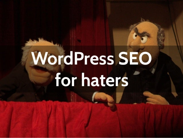 WordPress SEO for haters