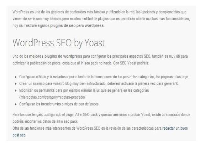Wordpress seo slide