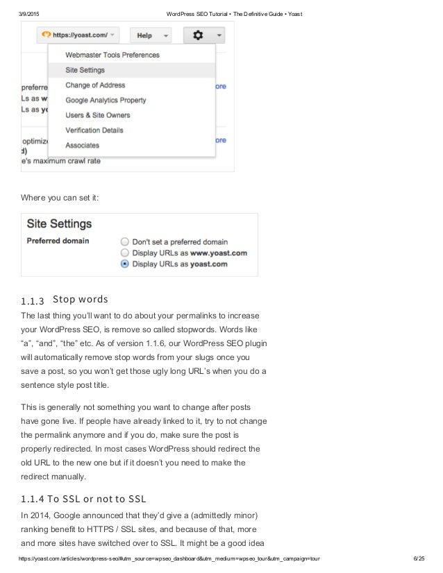 wordpress seo tutorial the definitive guide yoast 2017