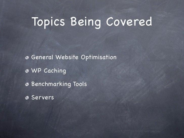 WordPress Speed Optimisation slideshare - 웹