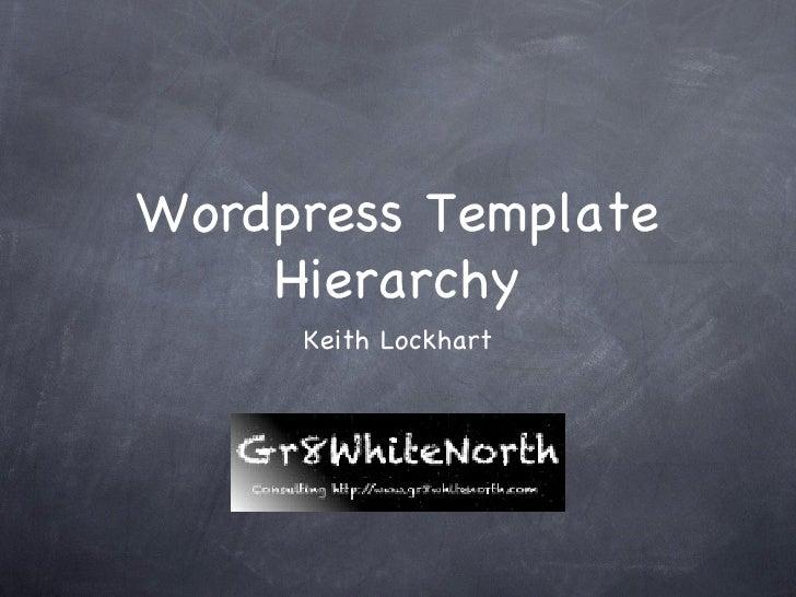 Wordpress Template    Hierarchy     Keith Lockhart