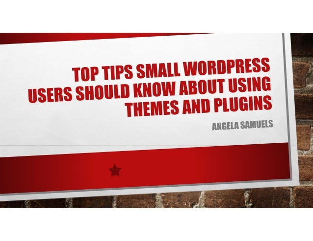 • Love working with WordPress and Social media • Training Passion ANGELA SAMUELS TECHNOLOGY EDUCATOR