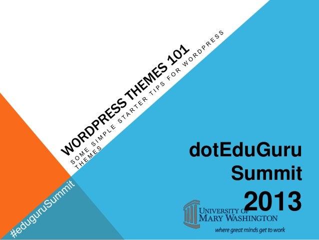 dotEduGuru    Summit    2013