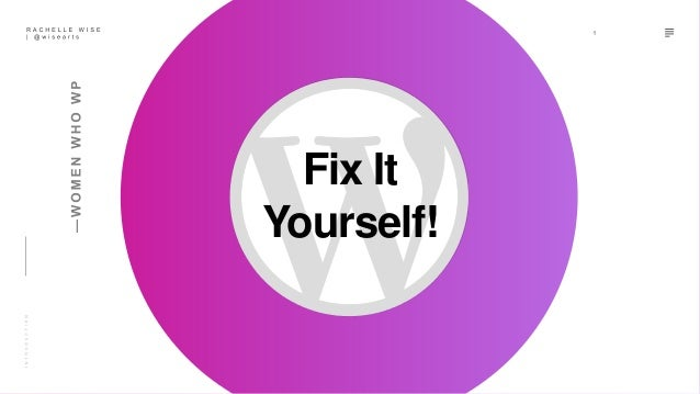 Fix It Yourself!