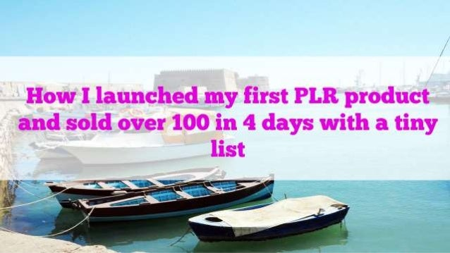 This is my case study of how I launched my WordPress PLR video course – my first one ever – and sold over 100 copies in 4 ...