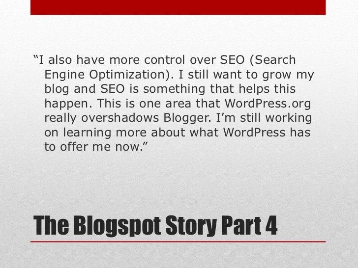 Wordpress vs Blogspot slideshare - 웹