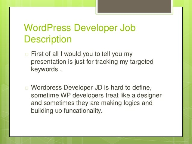 Test: How To Become Wordpress Web Developer
