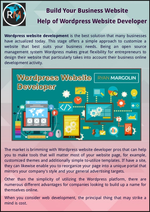 Build Your Business Website Help of Wordpress Website Developer Wordpress website development is the best solution that ma...