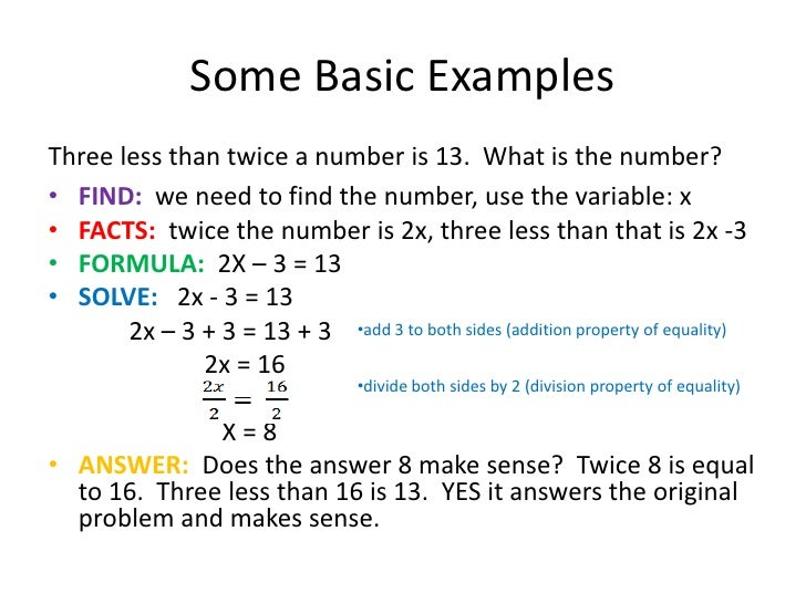 solve math word problems algebra
