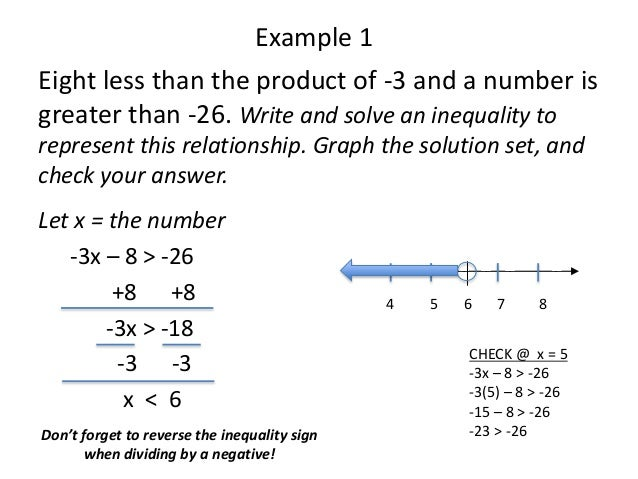 Word Problems with Inequalities – Algebra Word Problems Worksheet with Answers