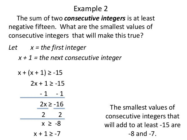 Consecutive Integers Word Problems Worksheet - Rringband