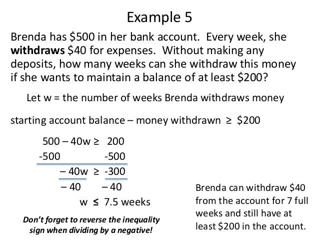 Word problems with inequalities 7 ibookread Read Online