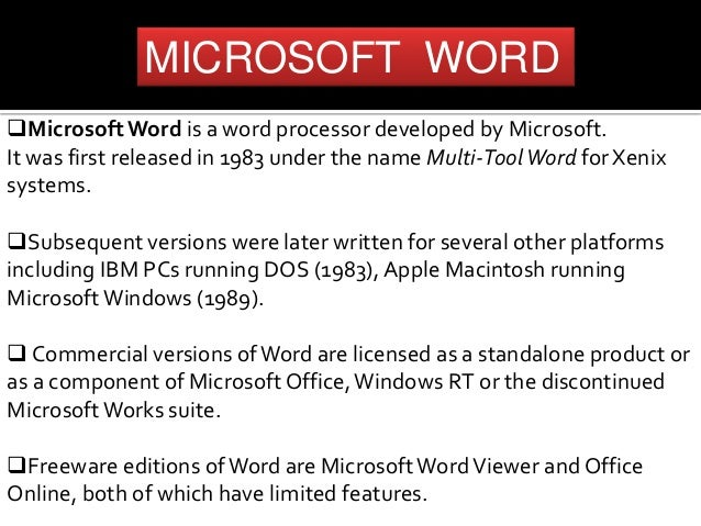 Microsoft word alternative word processor kingsoft office.