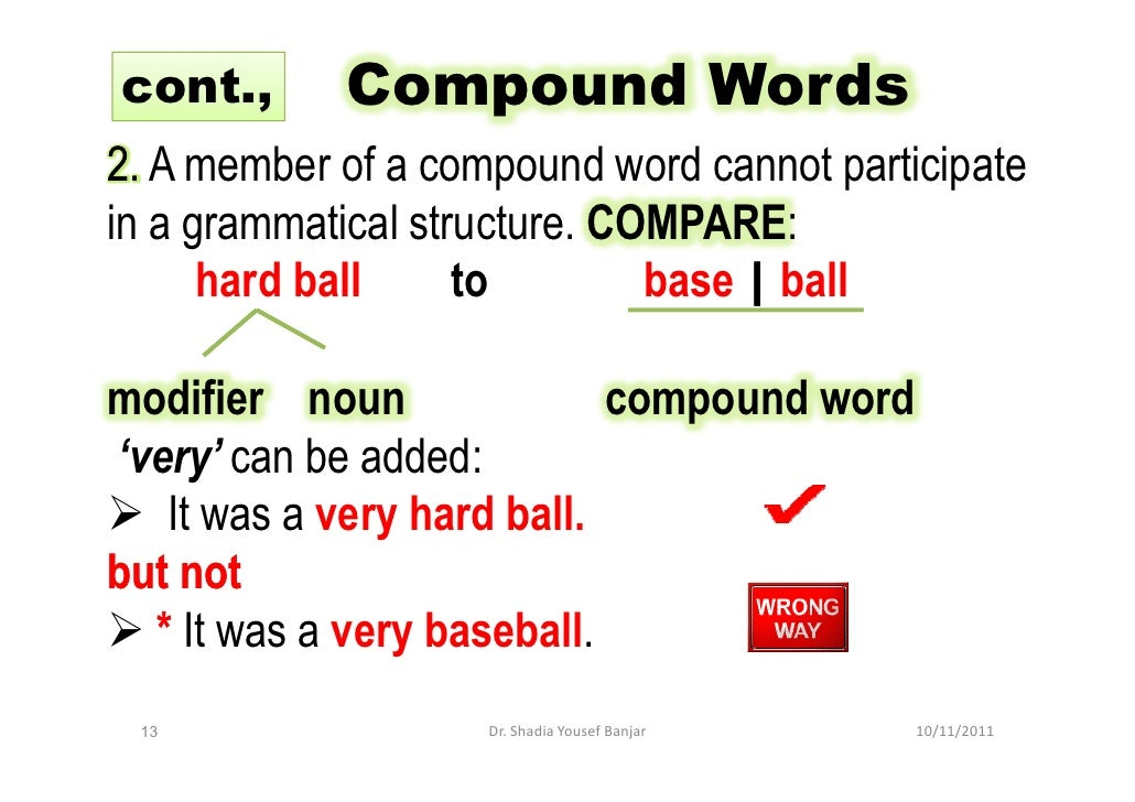 Morpheme and compound word