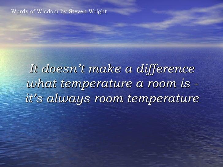 Thesaurus Room Temperature