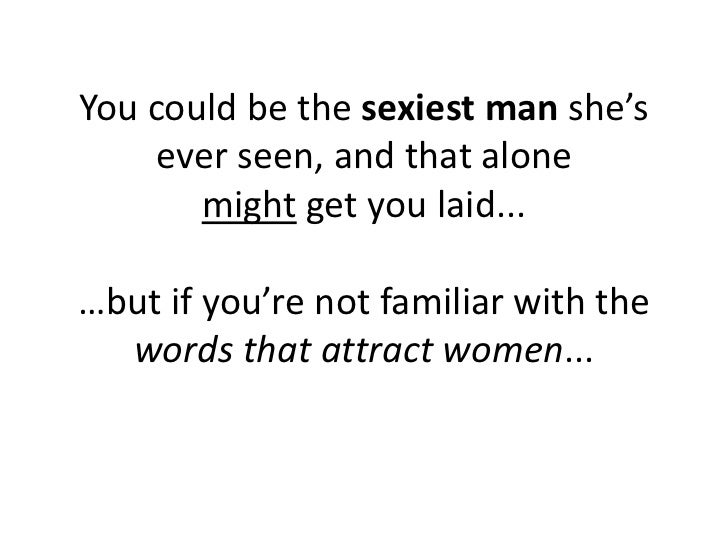 Seductive words to say to a woman