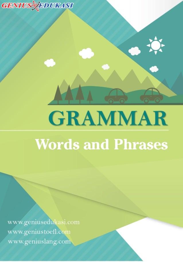Words And Phrases Dalam Bahasa Inggris