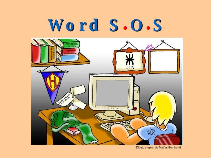 Word S O S Dibujo original de Matías Bernhardt