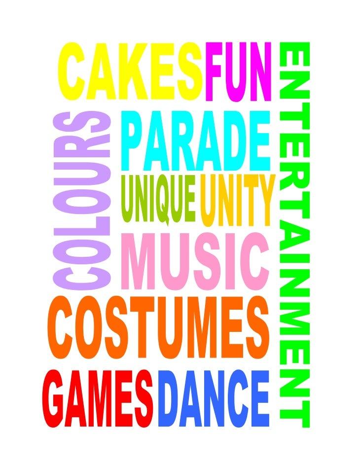 words to describe festivals