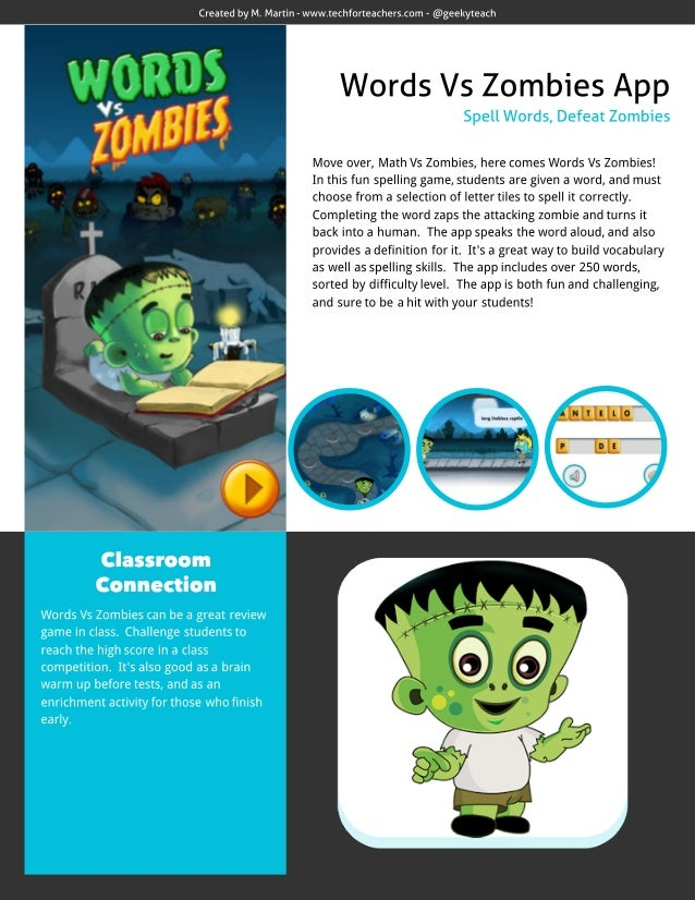 Words Vs Zombies App Review