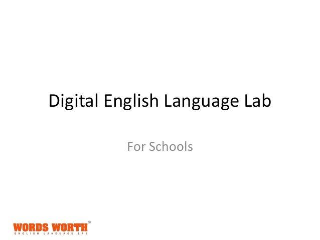 Digital English Language Lab For Schools