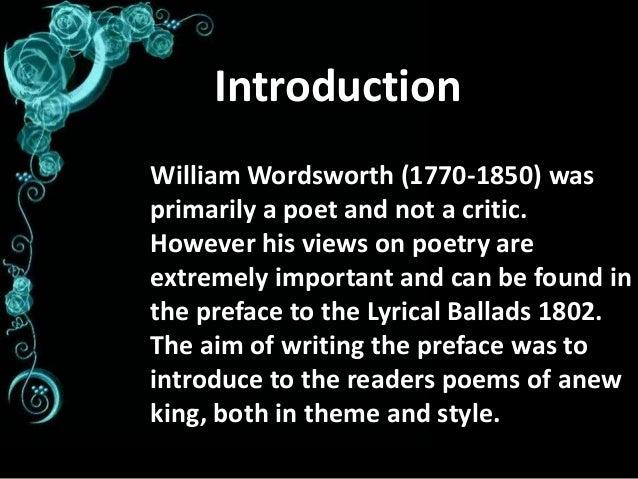 wordsworth style
