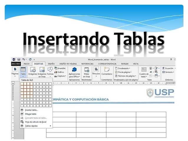 Microsoft Word:  tablas Slide 3