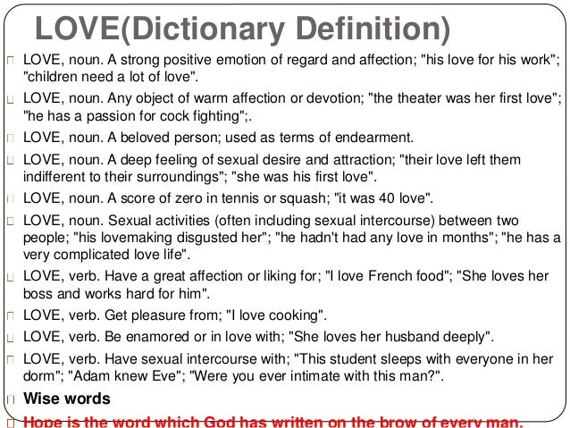 Lovedictionary
