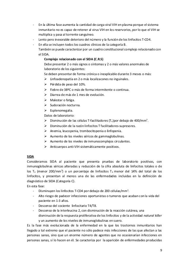 vih sida signos y sintomas pdf