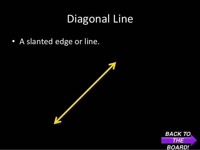Diagonal Line• A slanted edge or line.                               BACK TO                                 THE          ...