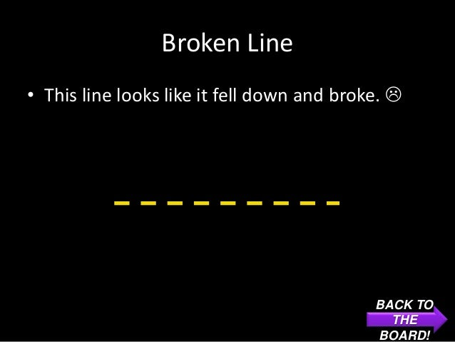 Broken Line• This line looks like it fell down and broke.                                             BACK TO            ...