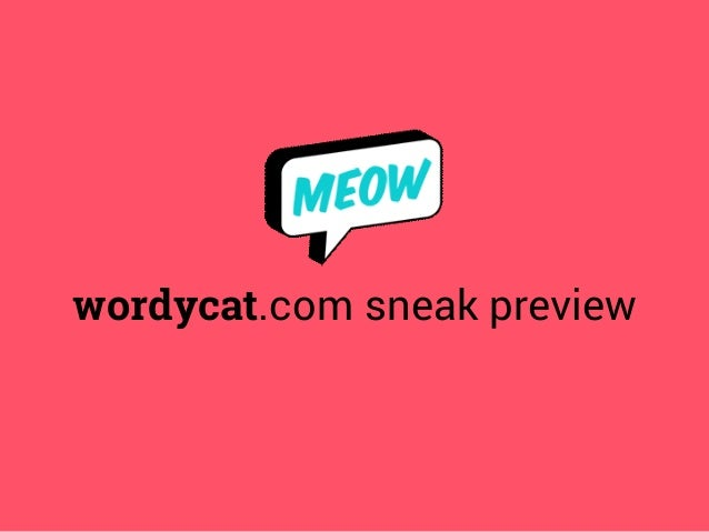 wordycat.com sneak preview