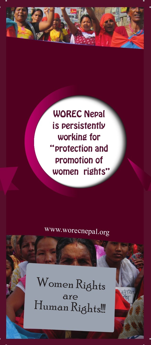 """www.worecnepal.org Women Rights are Human Rights!!! WOREC Nepal is persistently working for """"protection and promotion of w..."""