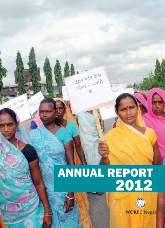 WOREC Nepal ANNUAL REPORT 2012