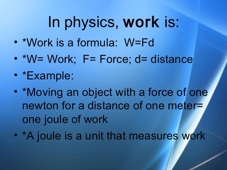 Physical Science: Work