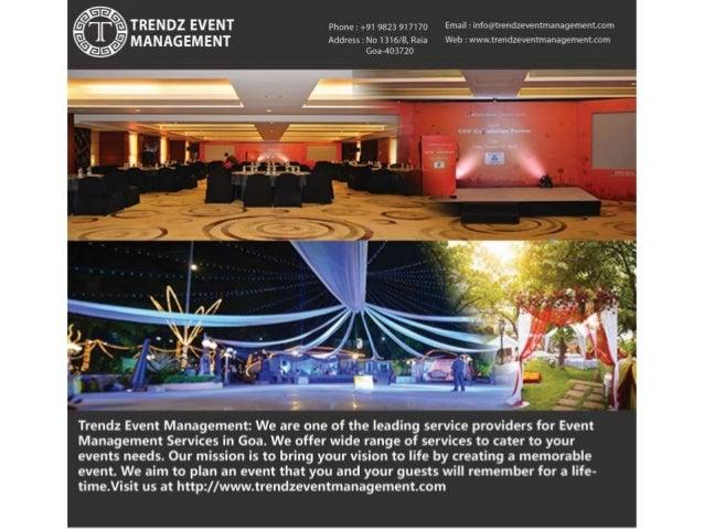 Trendz Event Management Goa