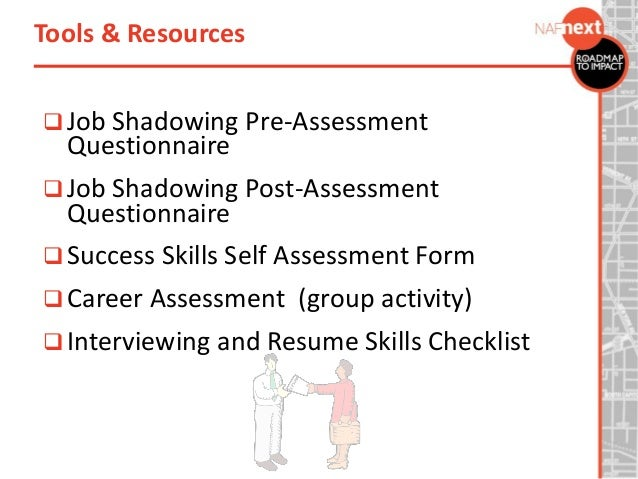 job shadowing resumes