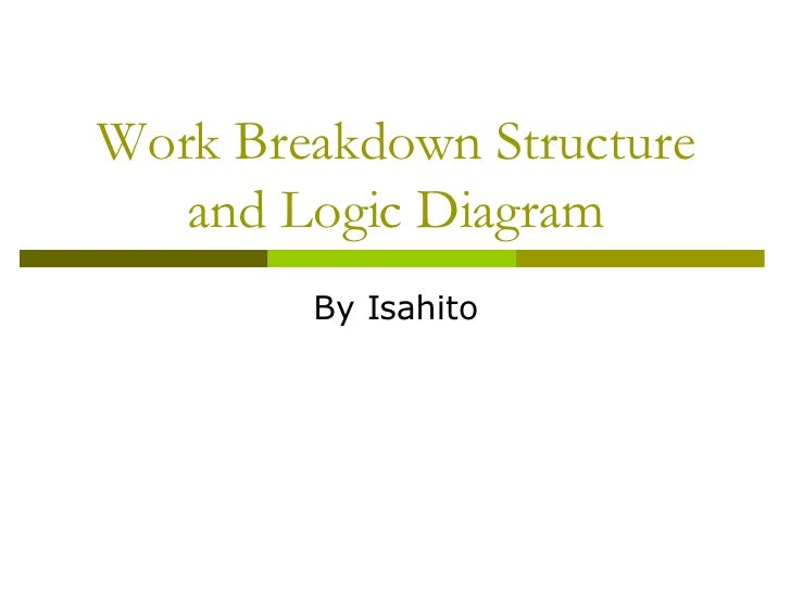 work breakdown structure and logic diagram. Black Bedroom Furniture Sets. Home Design Ideas