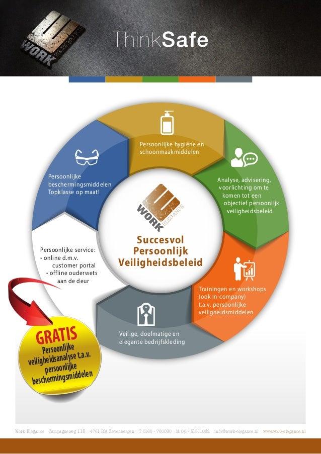 ThinkSafe  Persoonlijke  beschermingsmiddelen  Topklasse op maat!  Persoonlijke hygiëne en  schoonmaakmiddelen  Analyse, a...