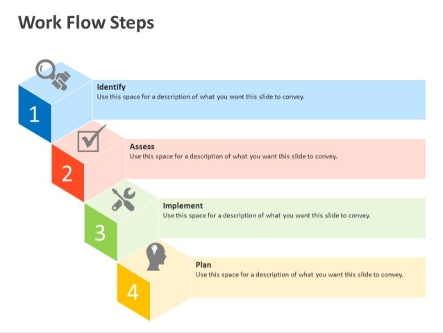 workflow process steps powerpoint template, Presentation templates