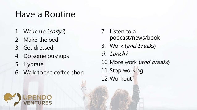 Tips & Tricks: Working from Home and Staying Productive Slide 3