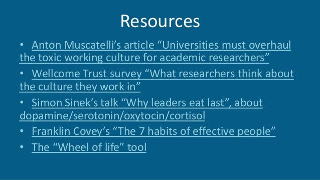 "Resources • Anton Muscatelli's article ""Universities must overhaul the toxic working culture for academic researchers"" • W..."