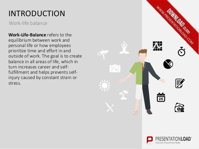 work-life balance ppt slide template, Powerpoint templates
