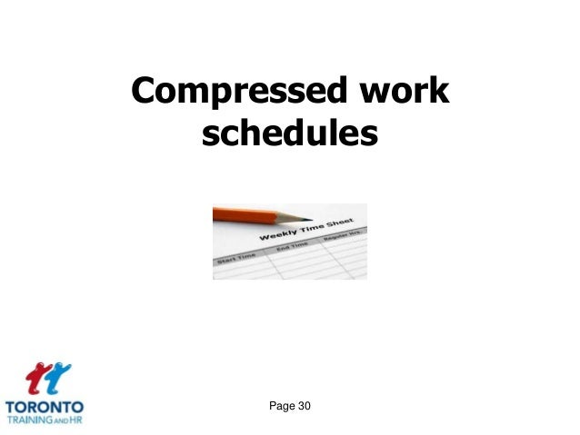 the importance of flexible and compressed work schedules Employees have shown a great desire for flexible work arrangements (fwas)   61% do not allow any workers to work a compressed work week for at least part  of the  an expanded understanding of their relevance to workforce recruitment, .