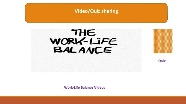 an analysis of balance as the center of ones life For a lot of people, the pursuit of a healthy work/life balance seems like an impossible goal with so many of us torn between juggling heavy workloads, managing relationships and family responsibilities, and squeezing in outside interests, it's no surprise that more than one in four americans.