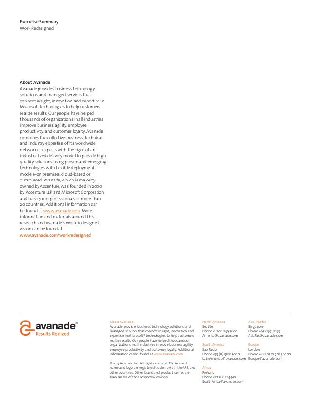 About AvanadeAvanade provides business technology solutions andmanaged services that connect insight, innovation andexpert...