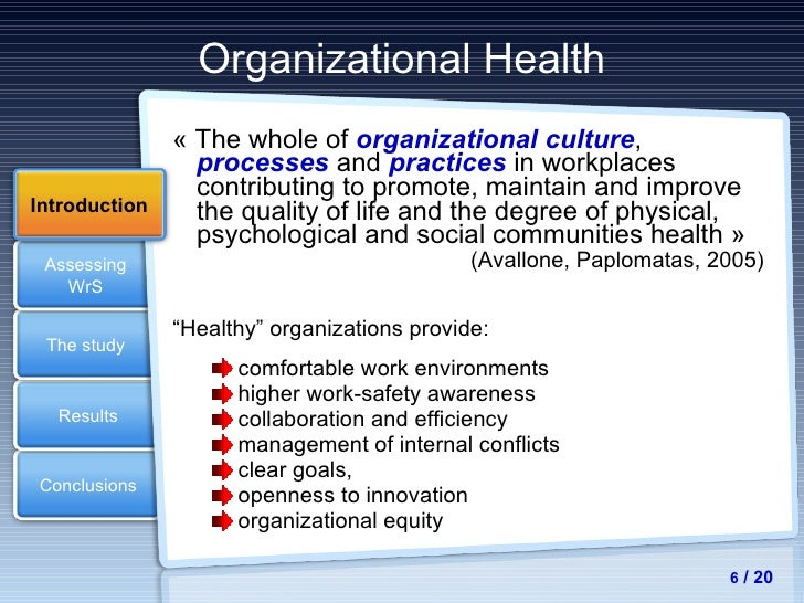 maintaining a healthy organizational culture Best answer: the core responsibility of leaders is to set a strategic vision for the organization and to inspire others to fulfill that visioni believe that in today's organization, the most important factor in maintaining a healthy organizational culture is clear communication leaders must strive to keep lines of communications open between employees and management, and must clearly convey.