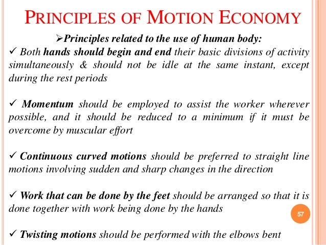 Principles of motion economy essay