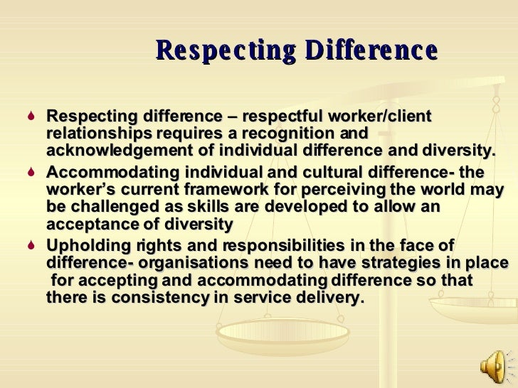 Accommodating differences in the workplace